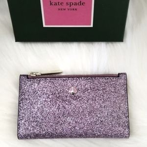 Kate Spade Burgess Court Bifold Glitter Wallet